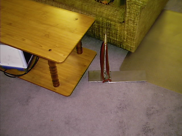 Lift Sofa By The Handle Support Leg Drops Down And Holds
